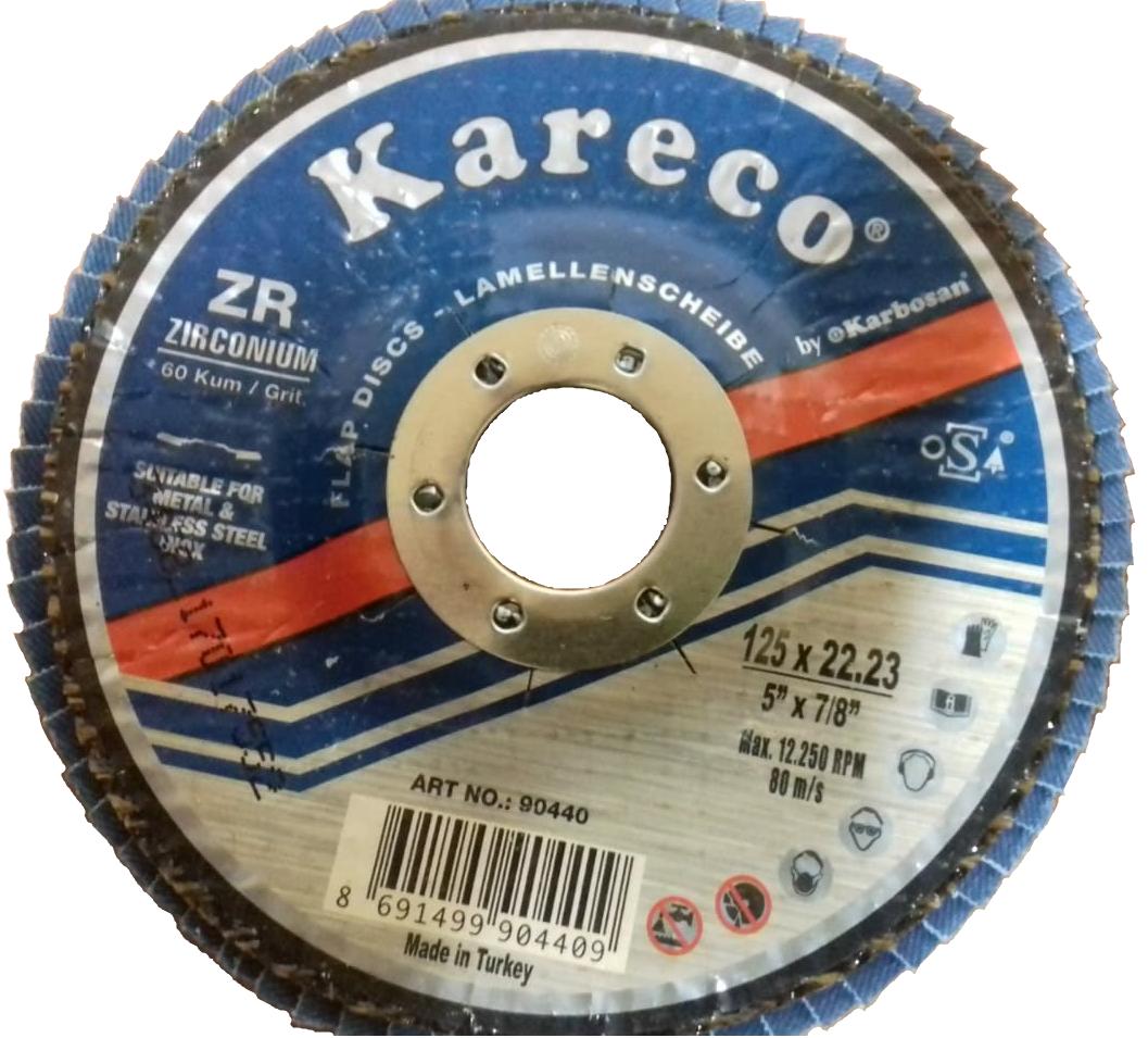 Лепестковый круг 125х22 ZR60 KAR-ECO