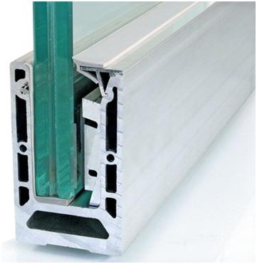 Зажимной профиль для стекла анодированный в комплекте
