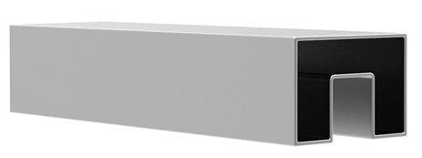 Поручень 40*40 мм L=5000 мм, с пазом