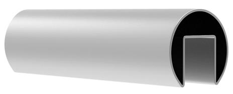 Поручень 42,4 мм, L=5000 мм, с пазом