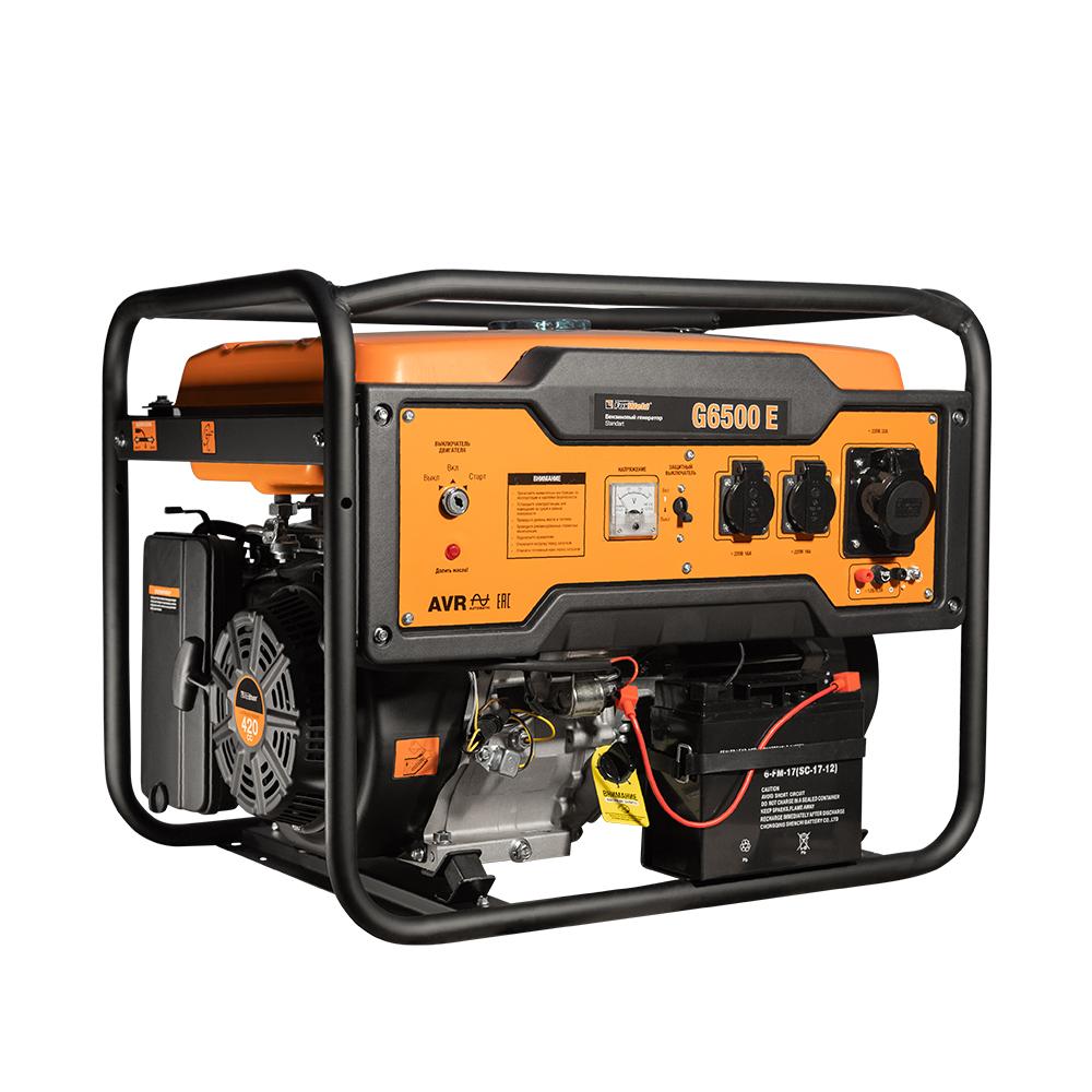 Бензиновый генератор FoxWeld Standart G6500 E