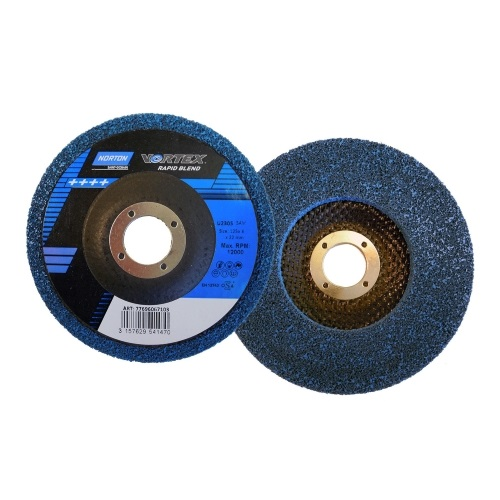 Полировальный круг NORTON 125*22 Vortex 5AM (синий)