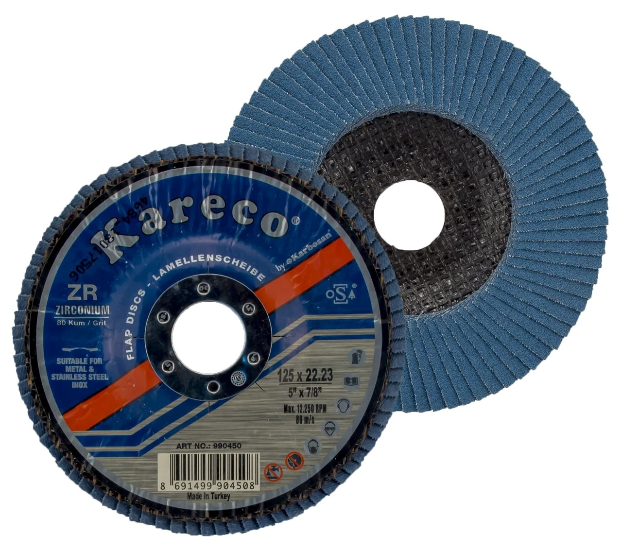 Лепестковый круг 125х22 ZR80 KAR-ECO